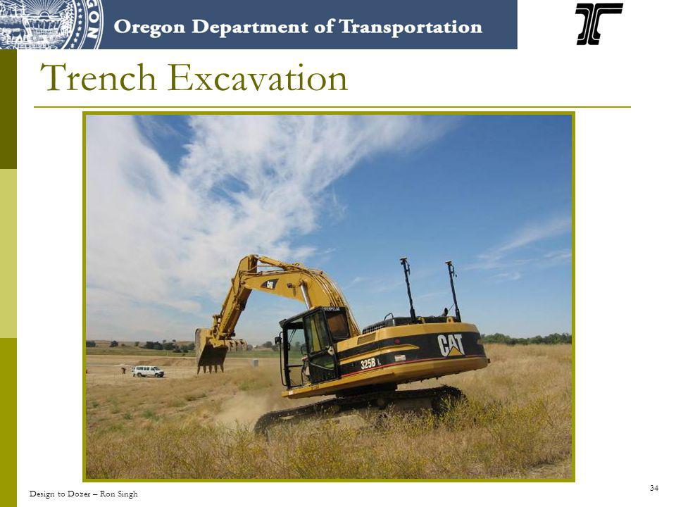 34 Trench Excavation Design to Dozer – Ron Singh