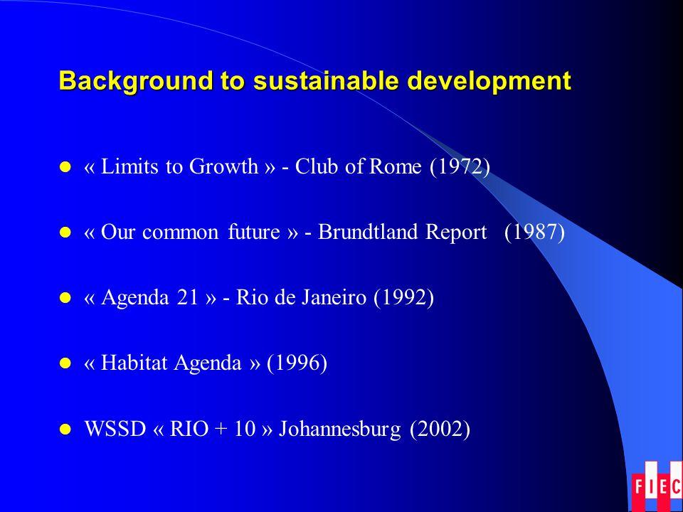 The 3 pillars of sustainable development Economic Social Environmental (ecological)