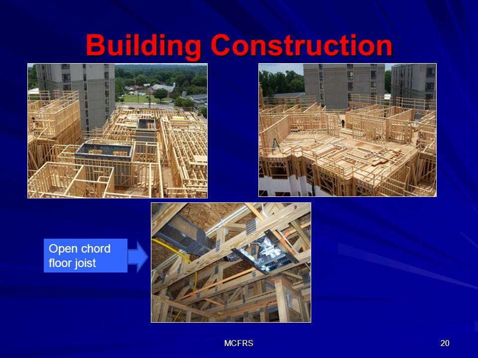MCFRS 20 Building Construction Open chord floor joist