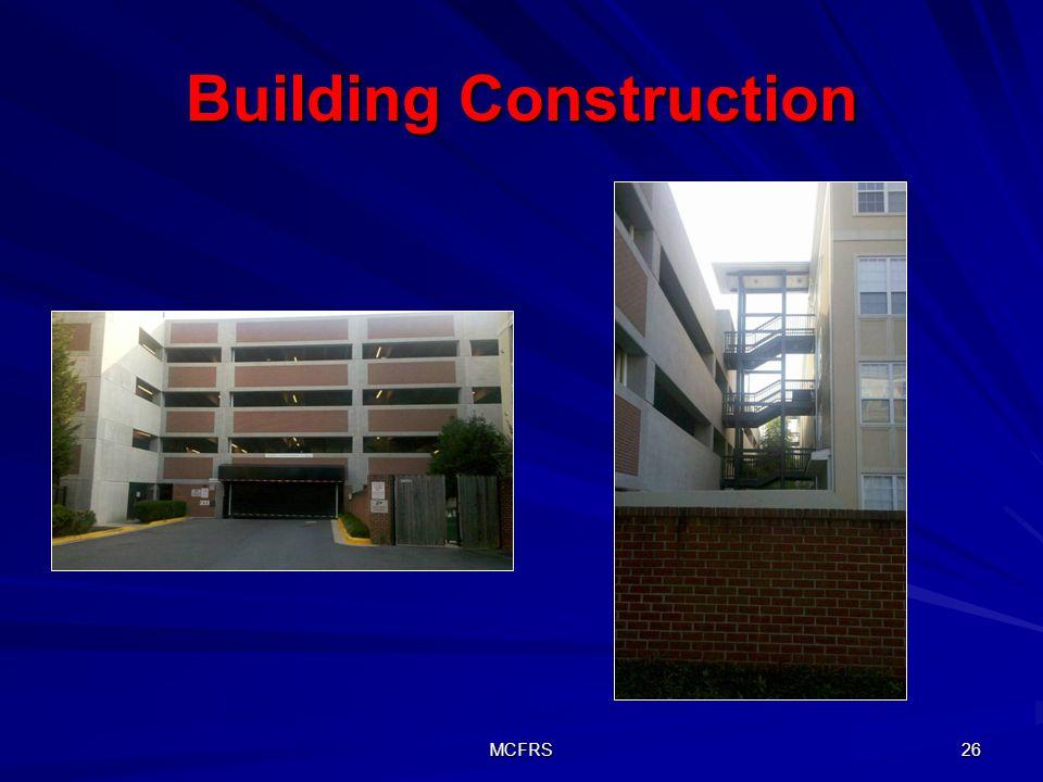 MCFRS 26 Building Construction