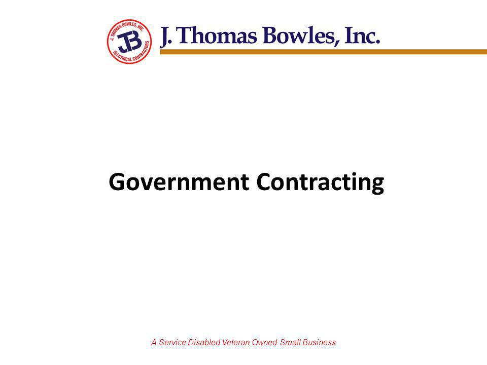 A Service Disabled Veteran Owned Small Business Government Contracting