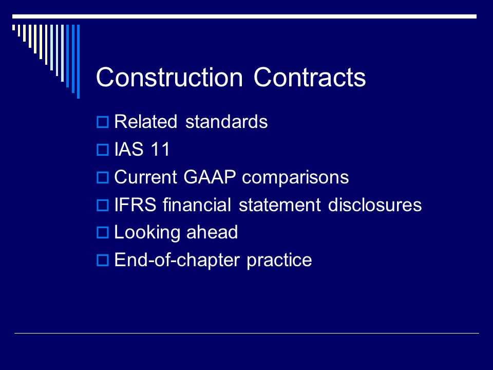 4 Related Standards HB 3400 Revenue EIC 78 Construction ContractorsRevenue Recognition when the Percentage of Completion Method is Applicable EIC 141 Revenue Recognition EIC 142 Revenue Arrangements with Multiple Deliverables