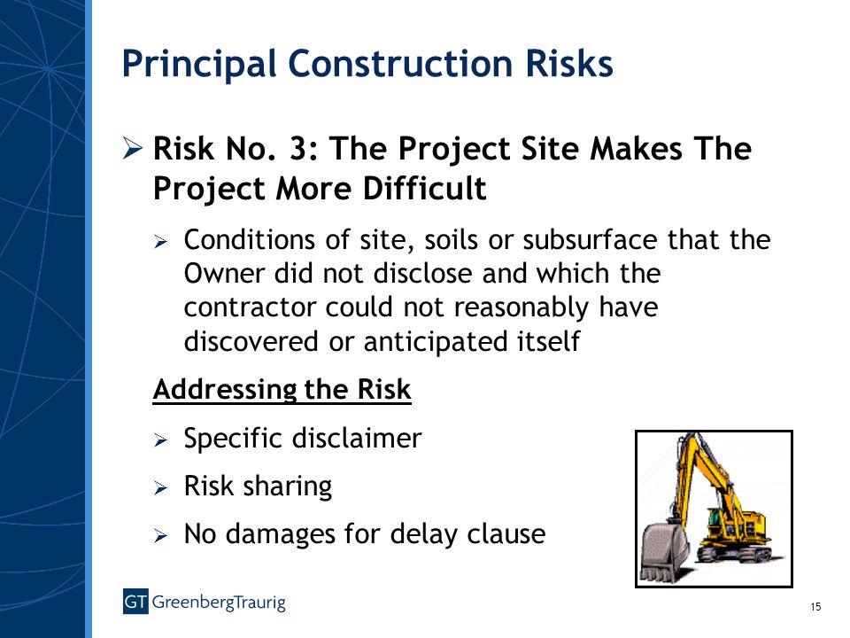 15 Principal Construction Risks Risk No.