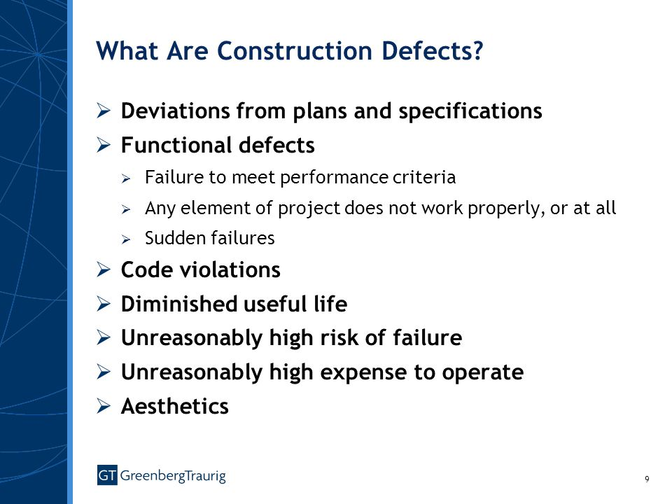 9 What Are Construction Defects.