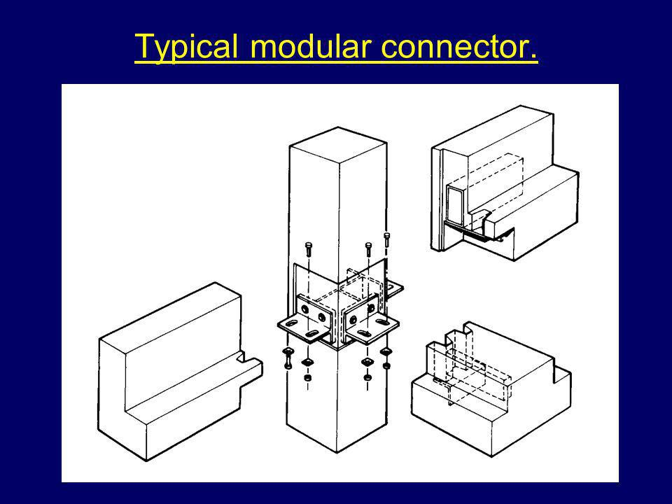 Typical modular connector.