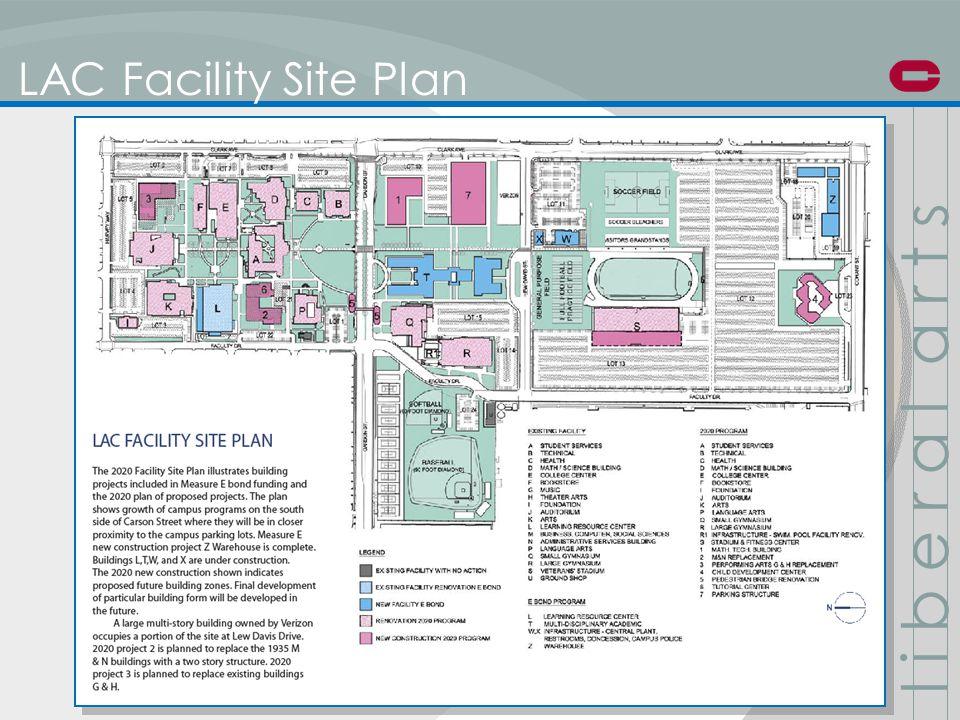 LAC Facility Site Plan l i b e r a l a r t s