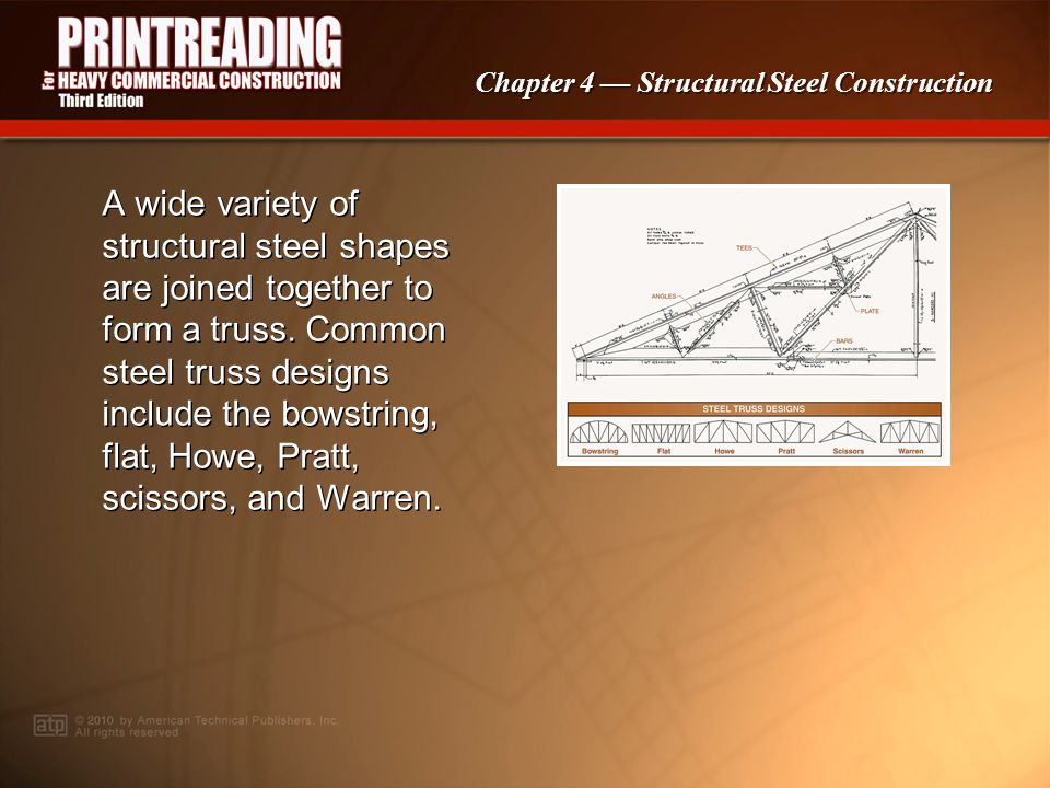 Chapter 4 Structural Steel Construction Erection plans indicate structural steel joist spacing and installation information. Open web steel joists are