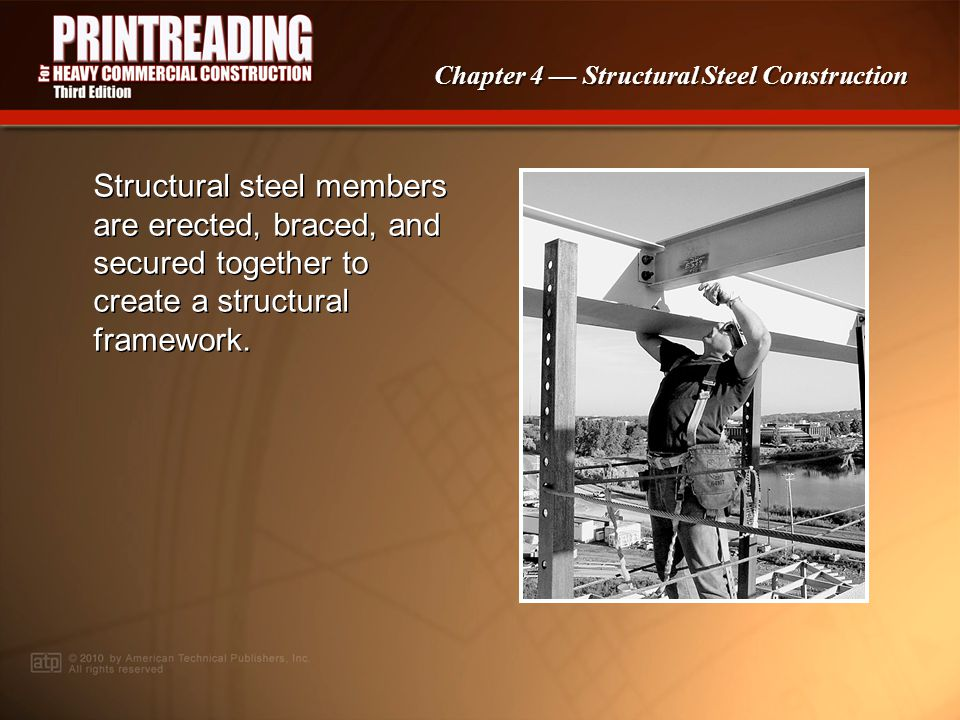 PowerPoint ® Presentation Chapter 4 Structural Steel Construction Structural Steel Construction Structural Steel Construction Methods Structural Steel