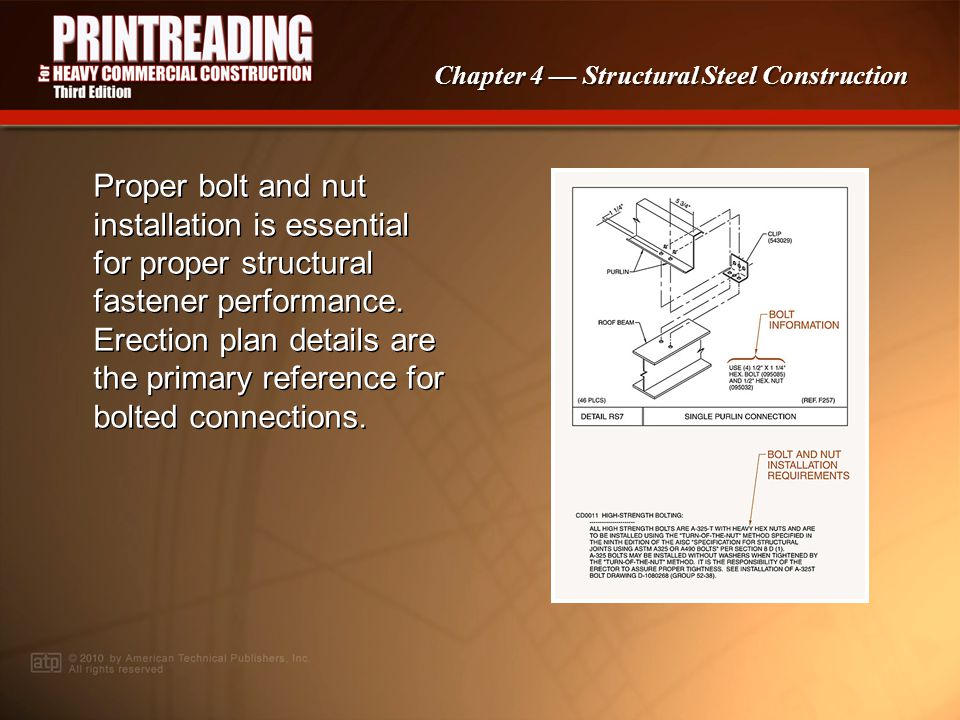 Chapter 4 Structural Steel Construction Tie rods are used to brace across long distances.