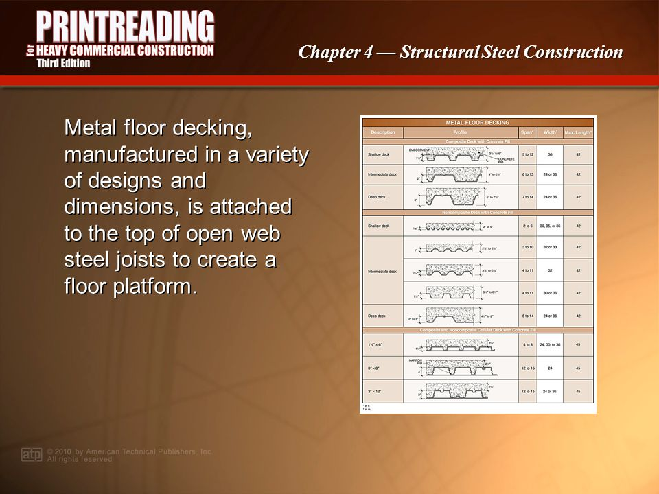Chapter 4 Structural Steel Construction Steel members may be cut to length using an oxyacetylene cutting torch.