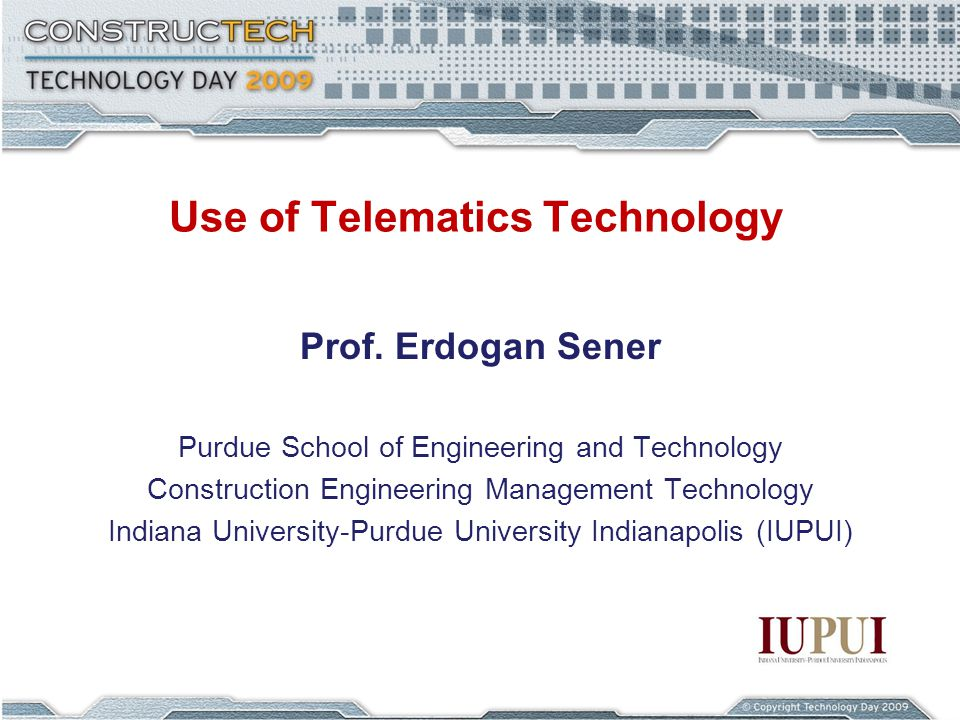 Use of Telematics Technology Prof.