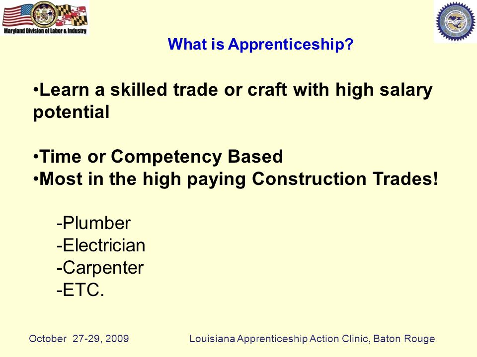 What is Apprenticeship.