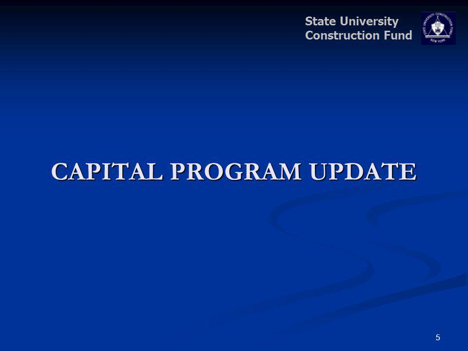 State University Construction Fund CAPITAL PROGRAM UPDATE 5