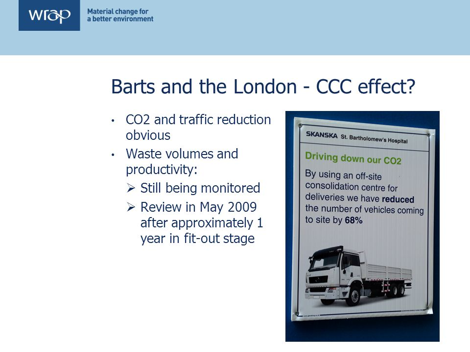Barts and the London - CCC effect.