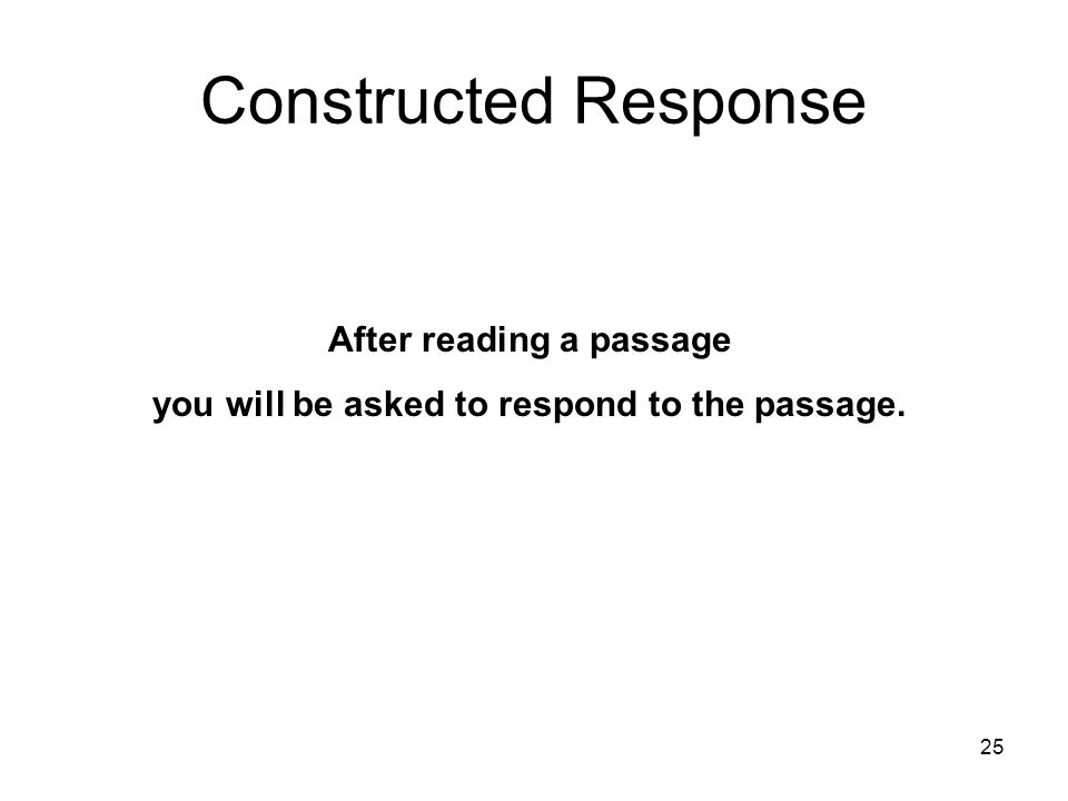 24 End of Extended Response Click to go to SC HSAP Constructed Response Writing