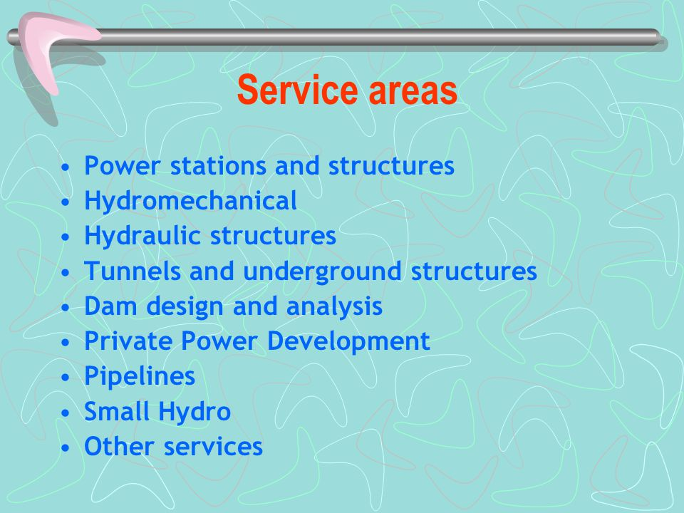 Service areas Power stations and structures Hydromechanical Hydraulic structures Tunnels and underground structures Dam design and analysis Private Po