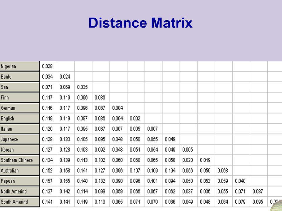 52 Distance Matrix
