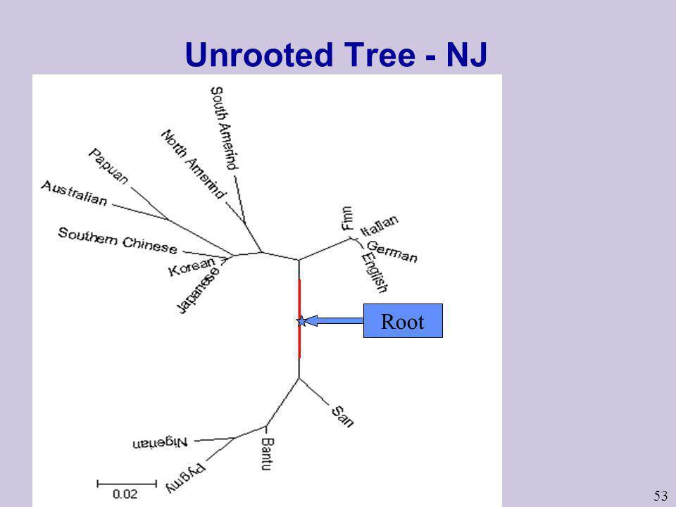 53 Unrooted Tree - NJ Root