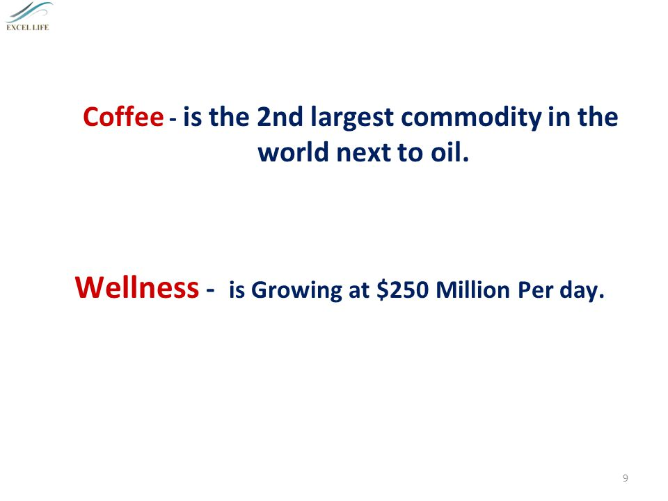 Three Mega Billion Dollar Industries: Oil Coffee Wellness MARKET TRENDS 8