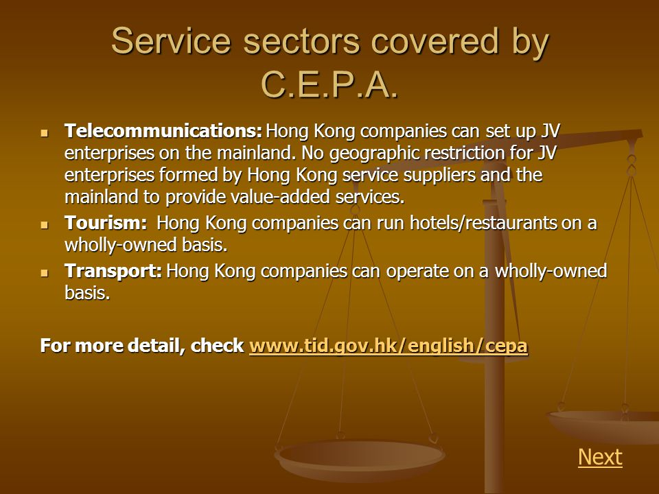Service sectors covered by C.E.P.A.