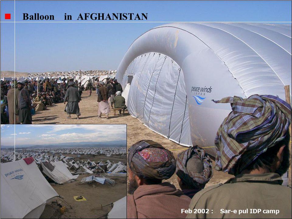 Balloon in AFGHANISTAN Feb 2002 Sar-e pul IDP camp