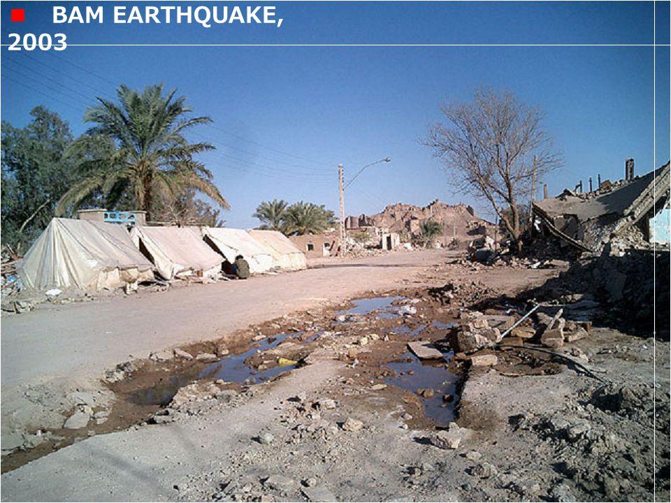 BAM EARTHQUAKE, 2003