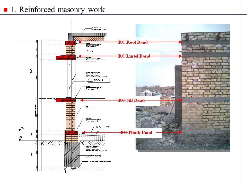 1. Reinforced masonry work