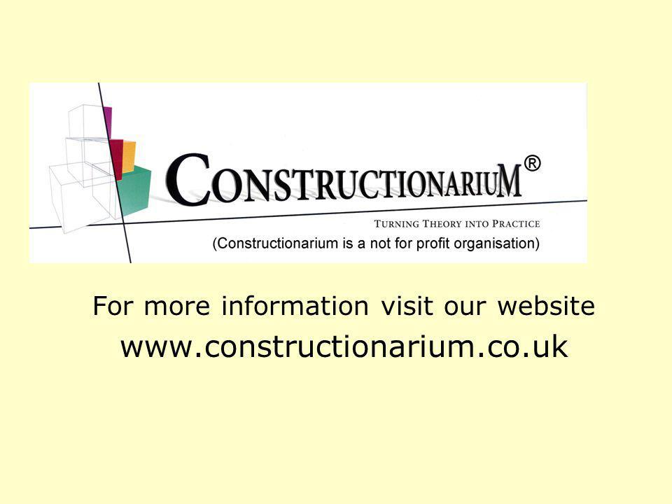 For more information visit our website www.constructionarium.co.uk