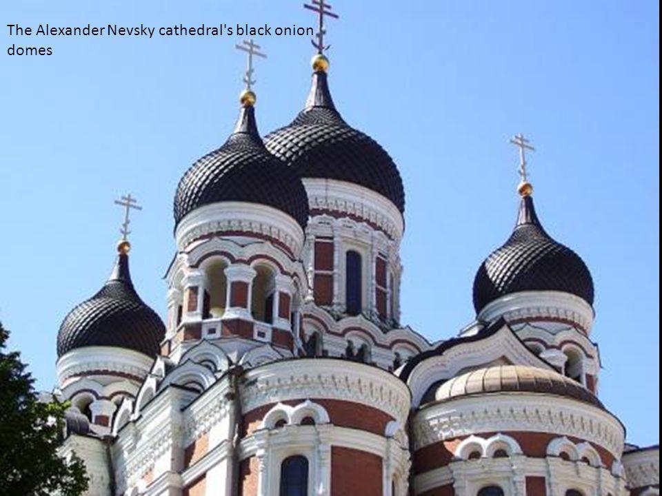 The Alexander Nevsky cathedral's black onion domes