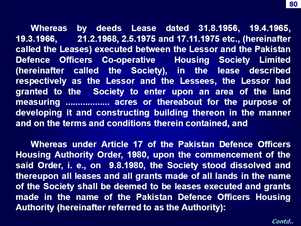 Whereas by deeds Lease dated 31.8.1956, 19.4.1965, 19.3.1966, 21.2.1968, 2.5.1975 and 17.11.1975 etc., (hereinafter called the Leases) executed betwee