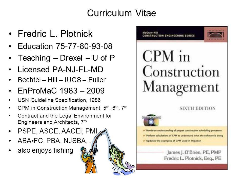 Curriculum Vitae Fredric L.