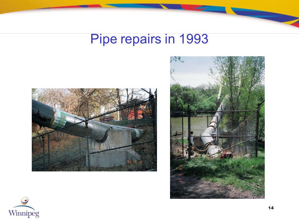 14 Pipe repairs in 1993