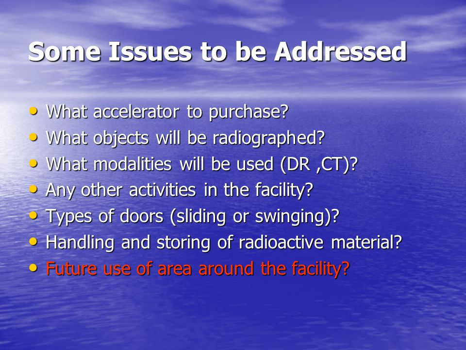 Some Issues to be Addressed What accelerator to purchase.