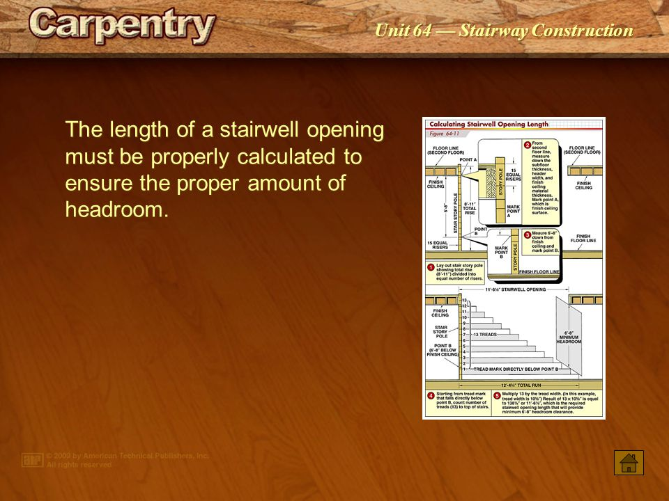Unit 64 Stairway Construction Minimum and maximum dimensions for commercial stairways are different than those for residential stairways.