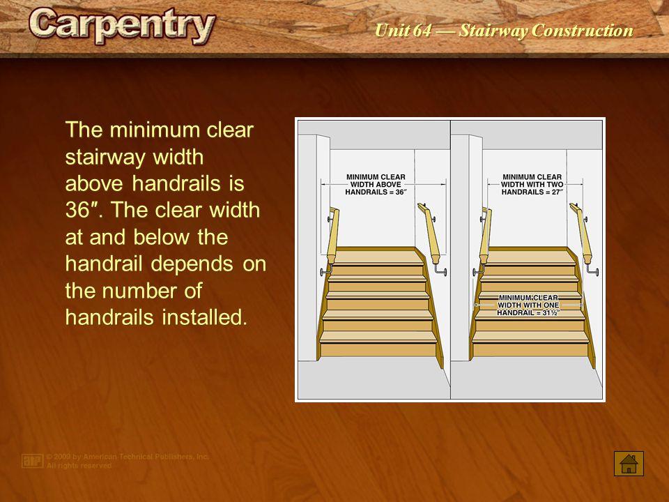 PowerPoint ® Presentation Unit 64 Stairway Construction Constructing Interior Stairways Installing Prefabricated Stairways Constructing Exterior Stair