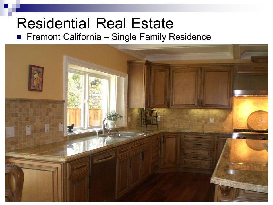 Residential Real Estate Fremont California – Single Family Residence