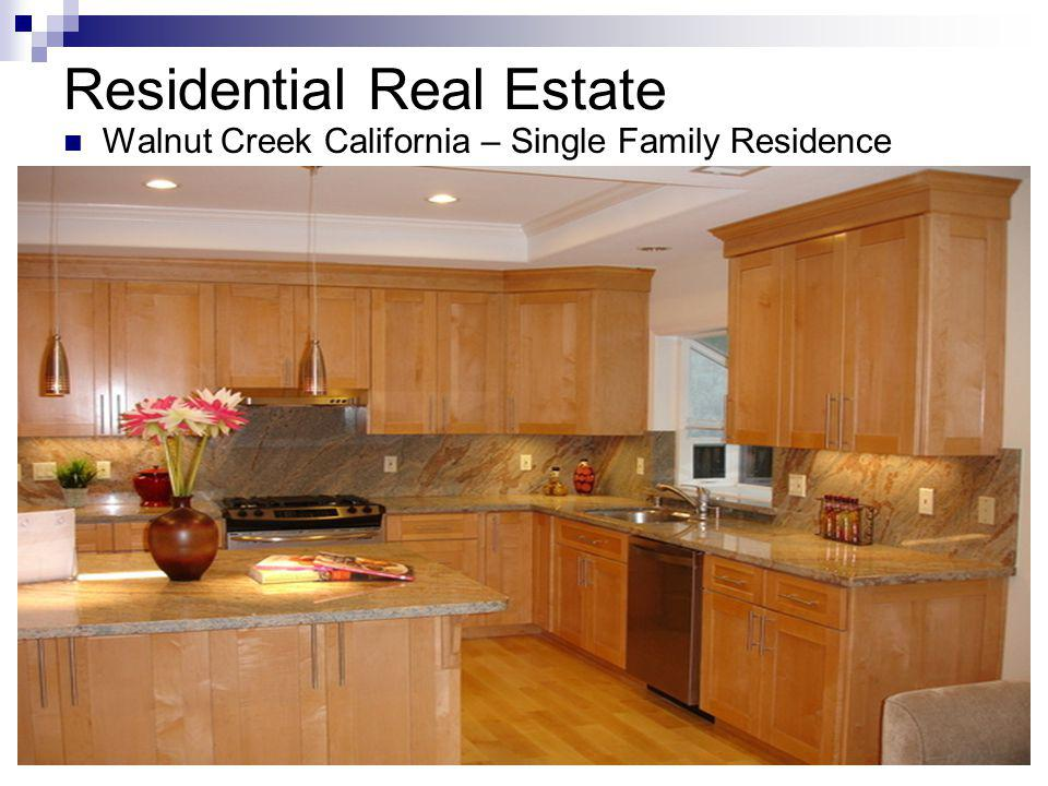 Residential Real Estate Walnut Creek California – Single Family Residence