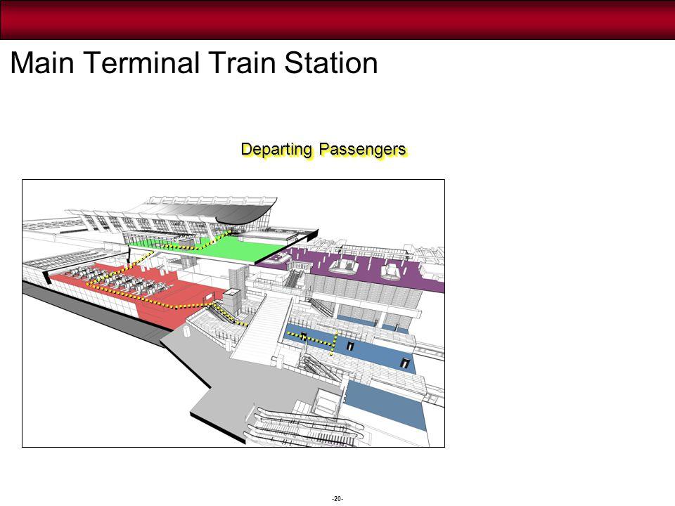 -20- Departing Passengers Main Terminal Train Station