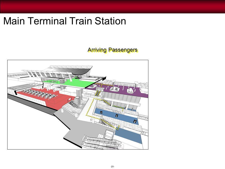 -21- Arriving Passengers Main Terminal Train Station