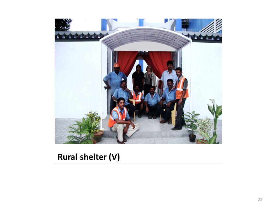Rural shelter (V) 23
