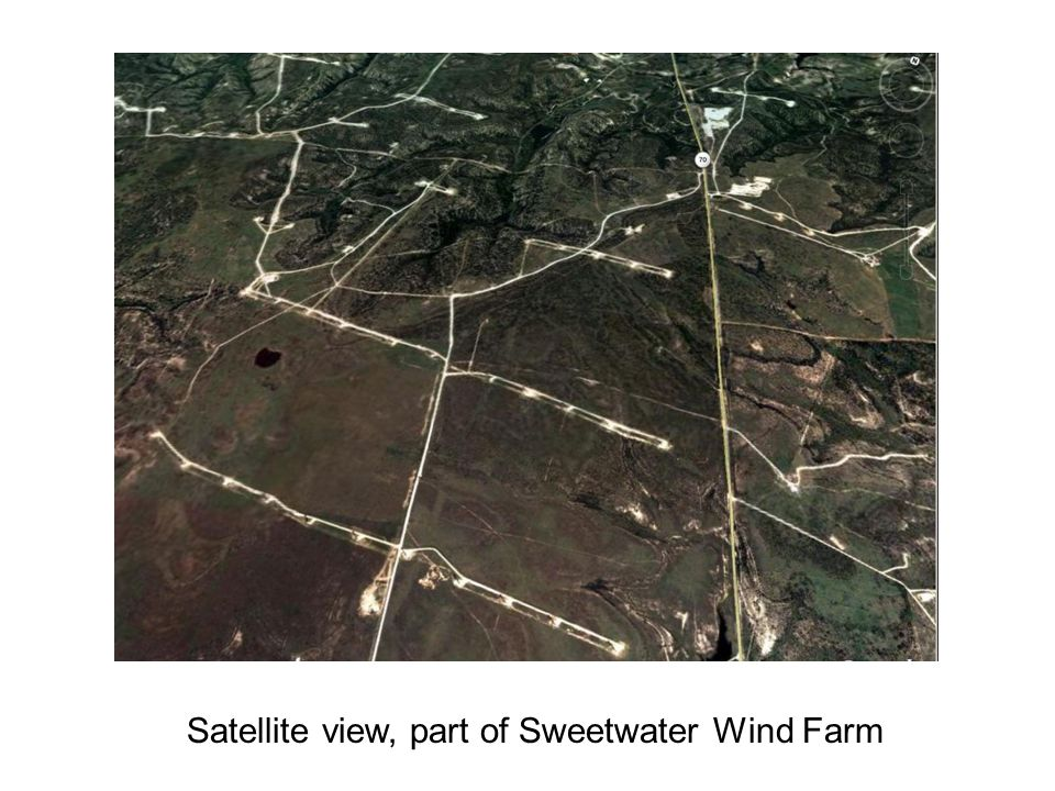 Satellite view, part of Sweetwater Wind Farm