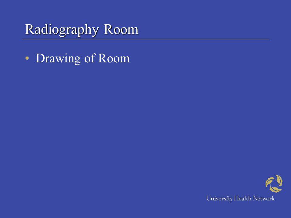 Radiography Room Drawing of Room