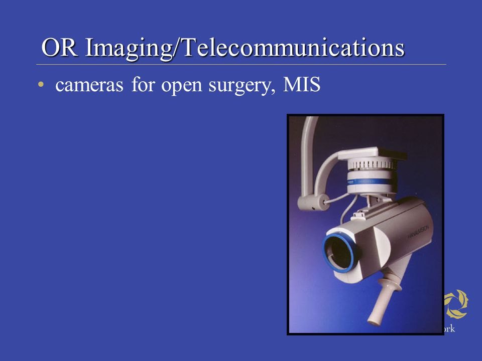 OR Imaging/Telecommunications cameras for open surgery, MIS