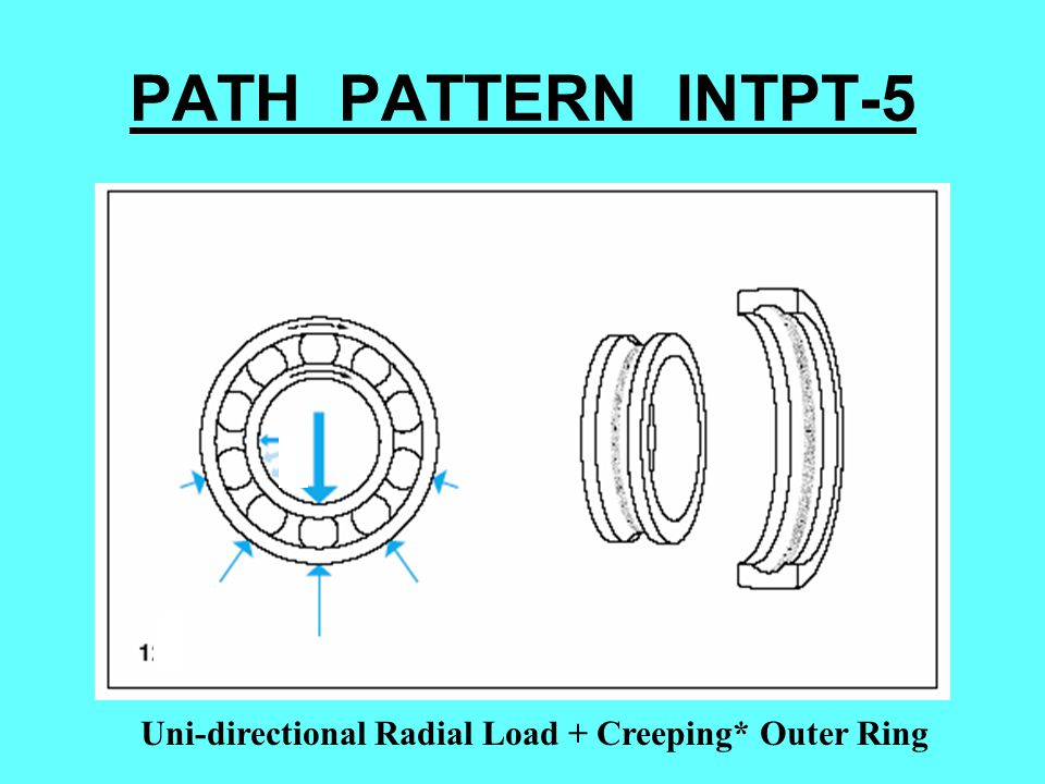 PATH PATTERN INTPT-5 Uni-directional Radial Load + Creeping* Outer Ring