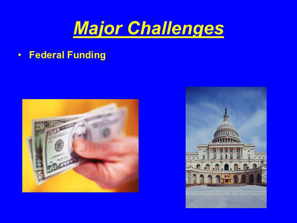 Major Challenges Federal Funding