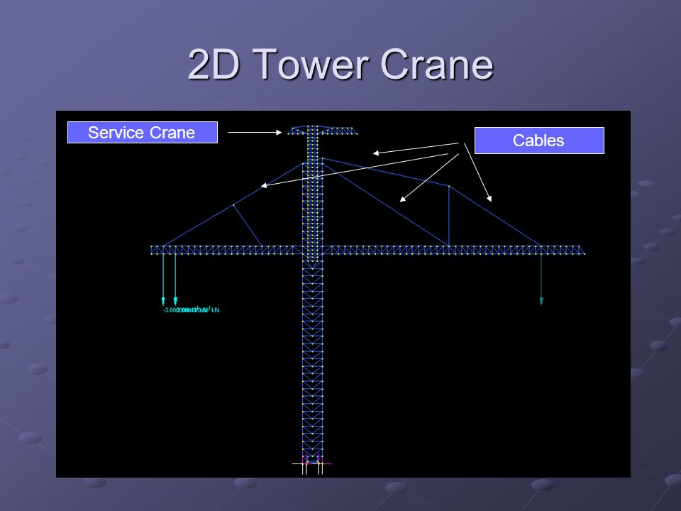 2D Tower Crane Service Crane Cables