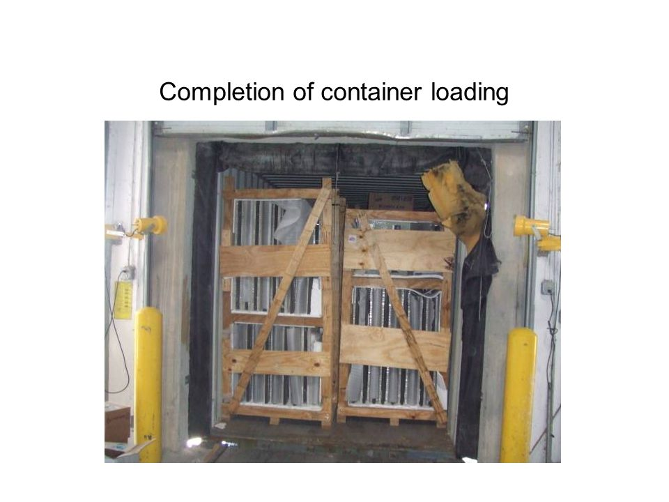 Completion of container loading