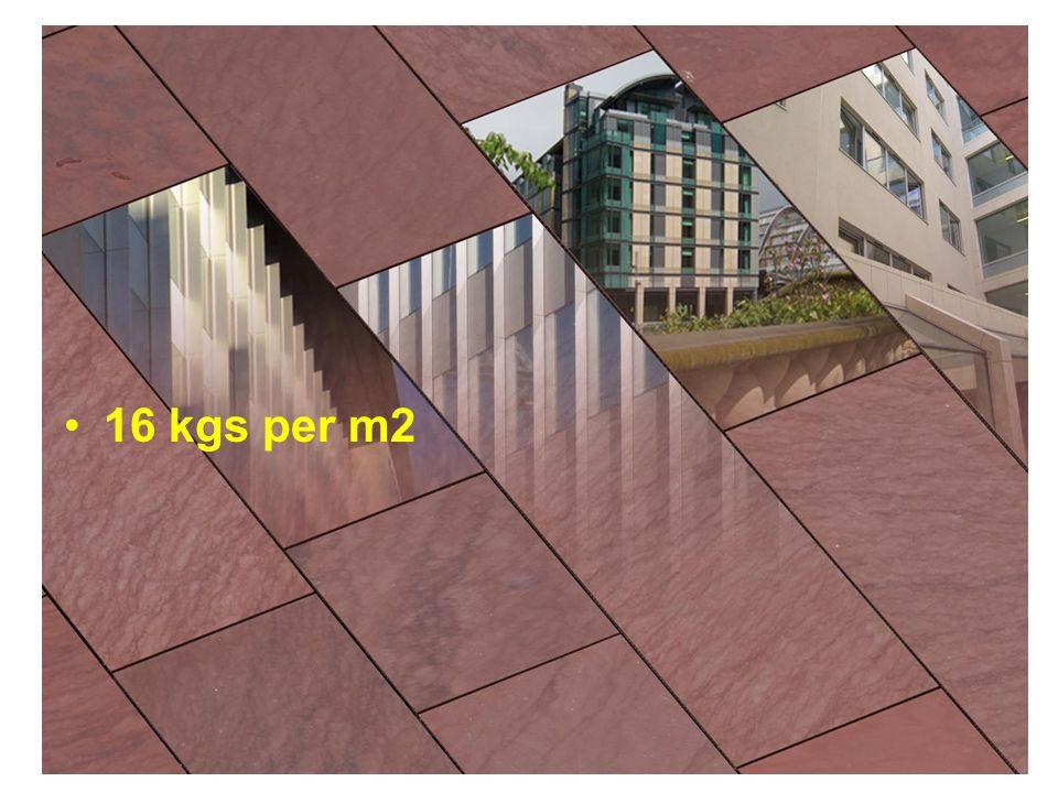 16 kgs per m2