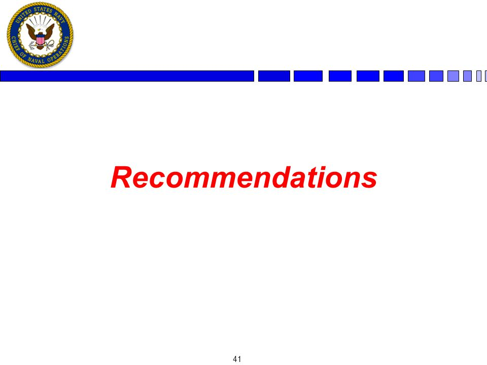 41 Recommendations