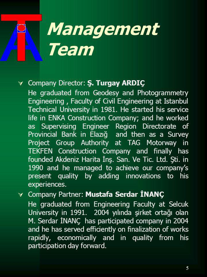 5 Management Team Company Director: Ş.